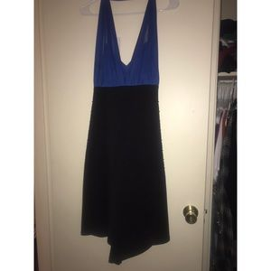 Torrid halter dress royal blue and black size 22